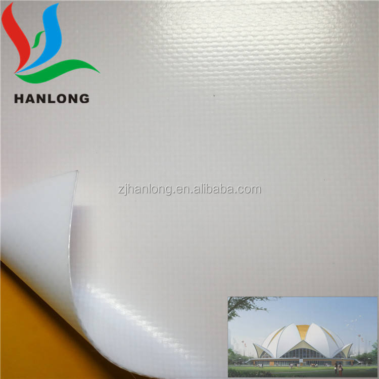 Architecture Membrane Structure PVDF Lacquered Awning Fabric in Rolls