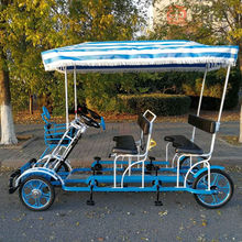 sightseeing four wheels canopy tour Quadricycle Surrey bike tandem bike on sale