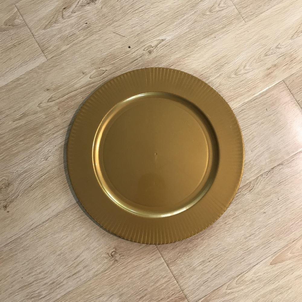 Chinese Cheap Big Gold Charger Plate