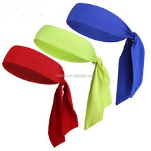 Printing LOGO Sports Head Ties Back Headbands Sweatbands for Running