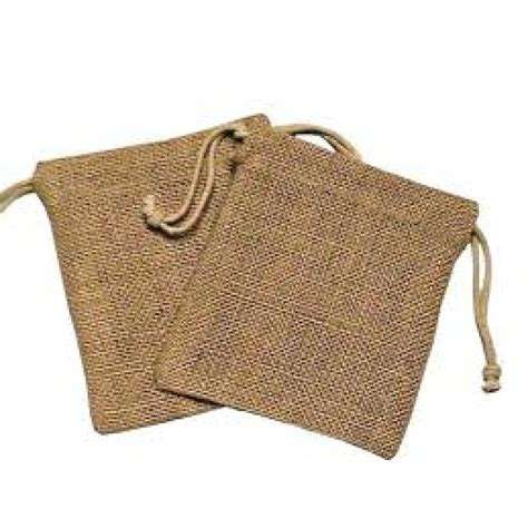 Linen Small Gift Packing Bag Drawstring Burlap/ Jute /Linen Pouch