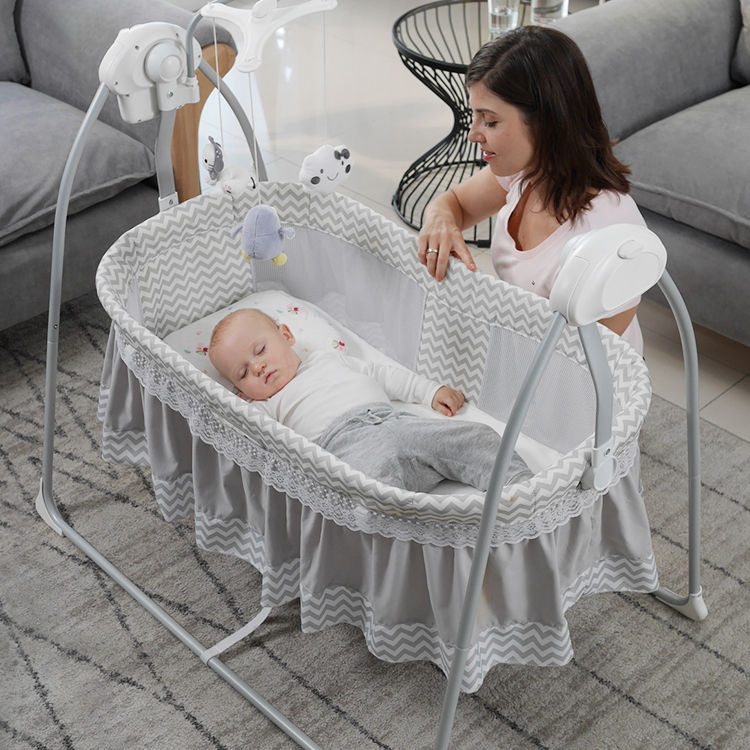 Baby swing crib Electric Cradle automatic swing baby crib baby with rocking crib travel