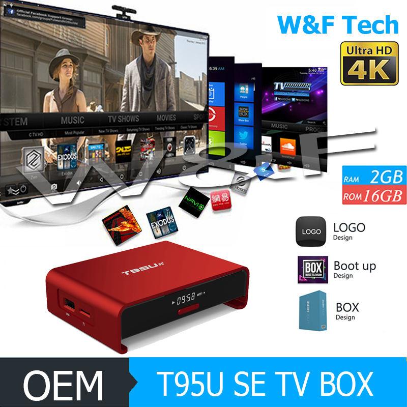 Atualização de firmware do mundo quad core s905x t95u se android 6.0 receptor de satélite android inteligente caixa de tv