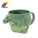3D dinosaur shape custom ceramic coffee mug cup with logo