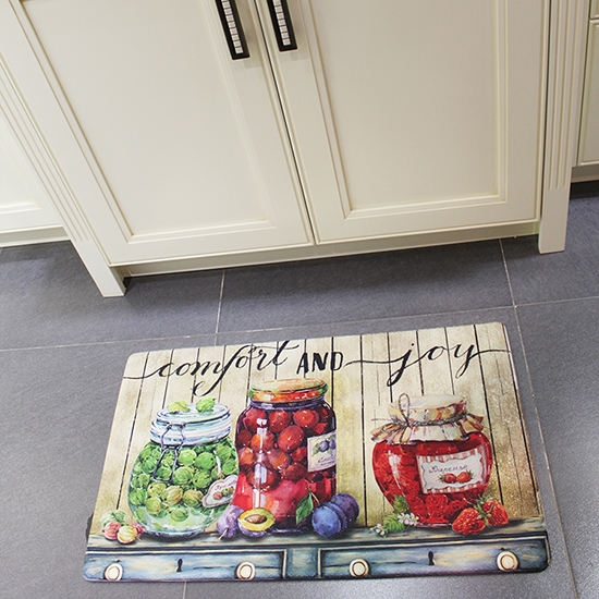non slip unfading UV printed anti fatigue kitchen floor mat