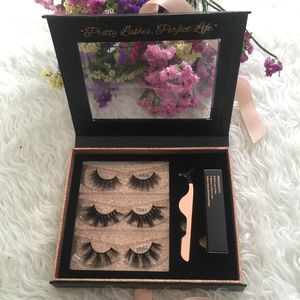 2019 Thamel Lashes Wholesale Luxury Faux Mink Lashes with custom lash book