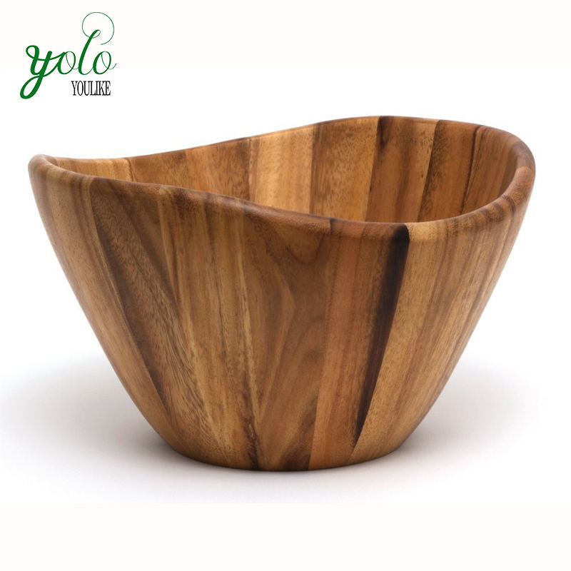 Wholesale 100% Acacia Wood Serving Bowl for Fruits or Salads
