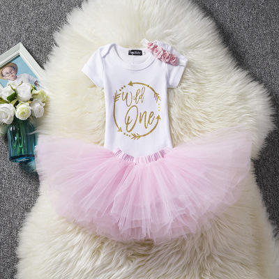 birthday dress for 1 year old baby girl new design children party headband toddler cute tutu wear
