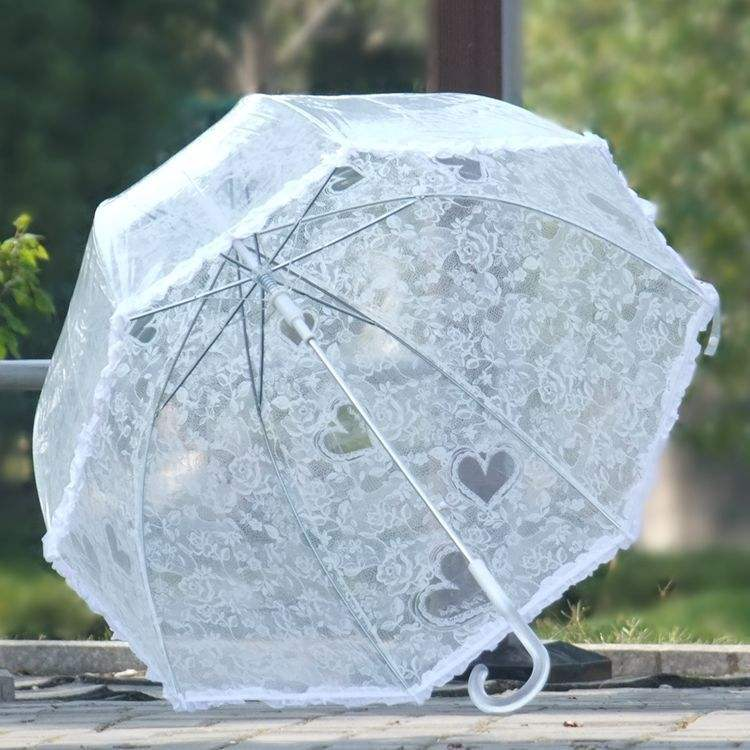 New products high quality chinese supplier umbrella wedding clear poe white straight umbrellas for weddings