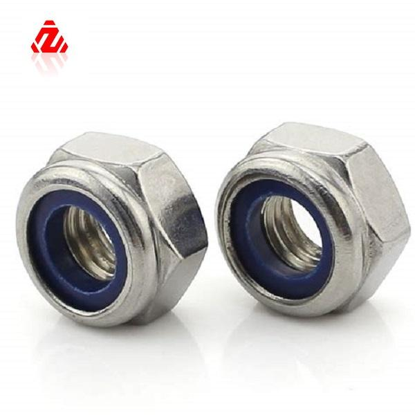 LEITE M2 X 0.4ミリメートルNylock Nuts Hex Nylon Insert Self Lock Nuts、Carbon Steel 4.8 ZINC Plated Grade DIN985 Zinc Plated Metric