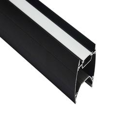 Up And Down Black Led Profile Light With Two Led Strip Linea