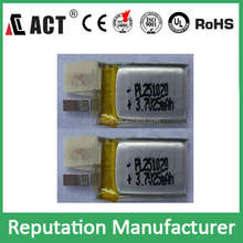 smallest rechargeable 3.7V ultra thin battery 201020 251020 020815