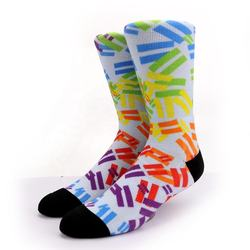 KANGYI  custom 360 digital printing socks fashion color 3D printed socks for men