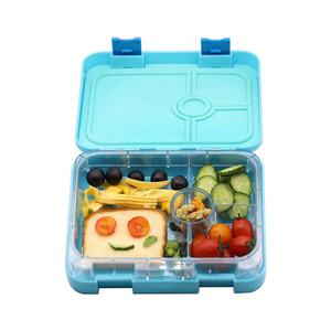Premium quality 4 compartimenti stagni bento lunch box per bambini e adulti