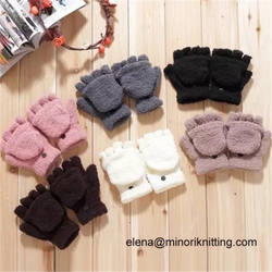 Custom Girls Winter Gloves Women Winter Warm Stylish Fluffy