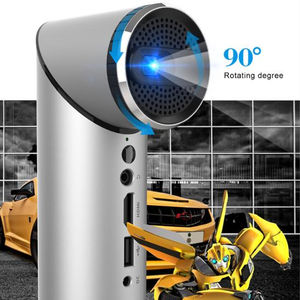 2019 Baru 100 ANSI 1000 5000 7000 8000 Lumens LED Laser Bluetooth 3D Home Cinema DLP Proyektor Mini