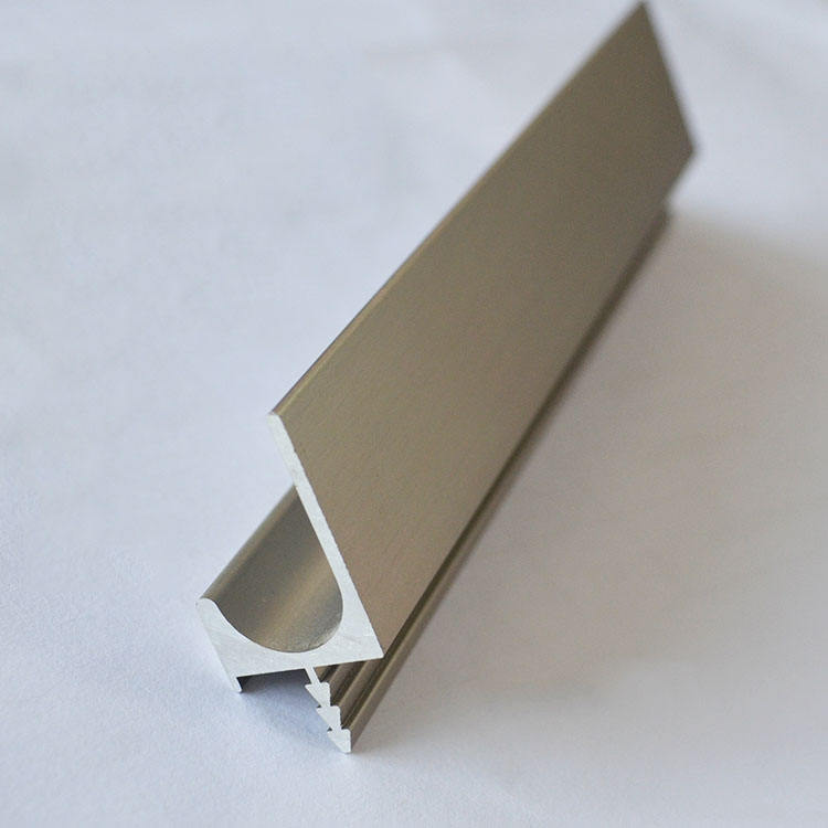 Aluminum Alloy J shape Handle Profile for Kitchen Cabinet