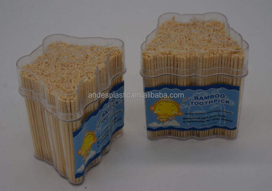 Одноместный указал бамбуковые зубочистки с упаковкой коробки
