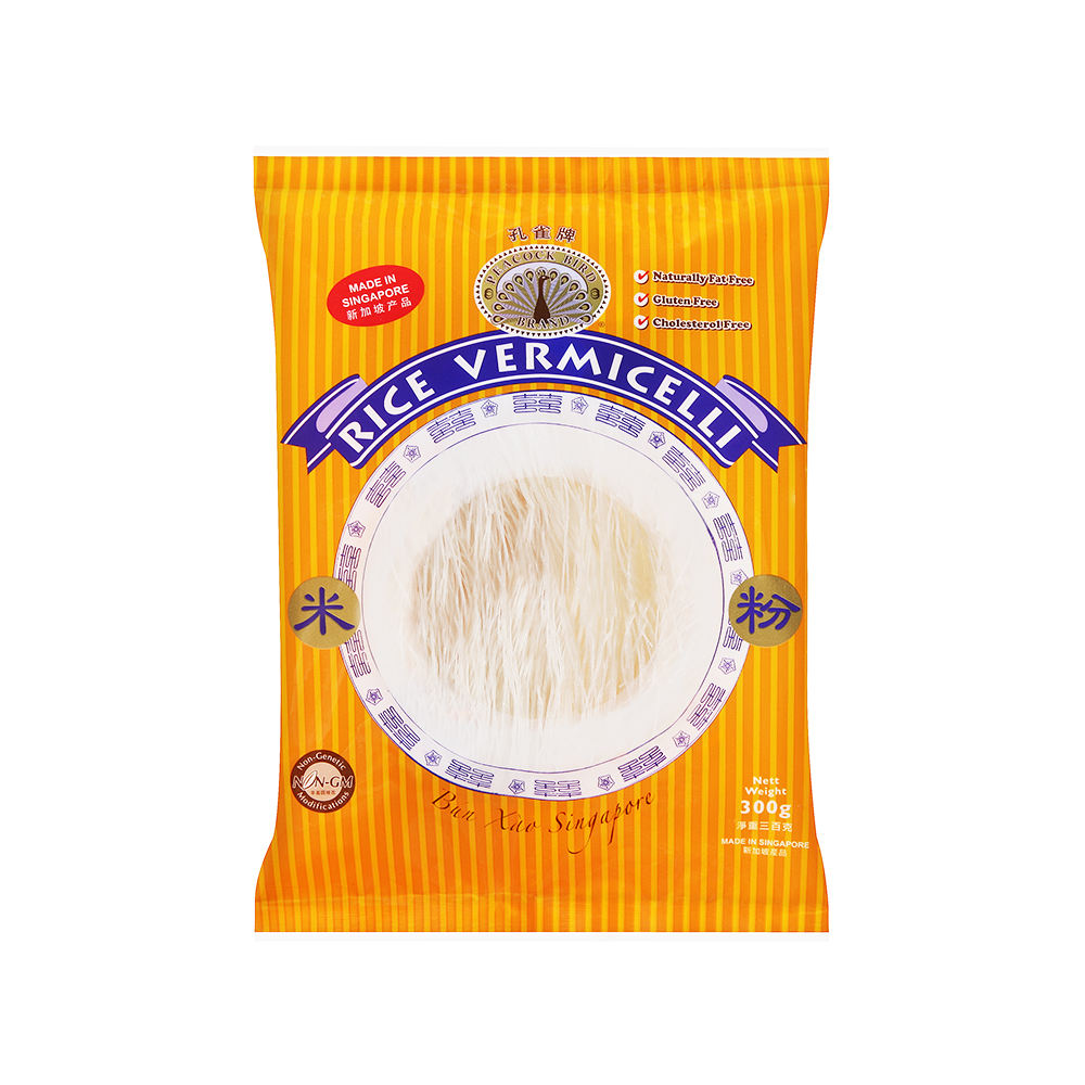 300G Peacock Bird Rice Vermicelli Gluten Free Instant Glass Noodle