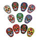 mexico style non woven embroidery sugar skull patch for jacket