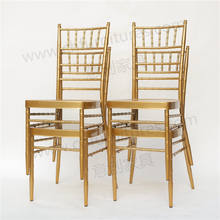 YC-A384  Rental banquet reception bamboo  wedding white chiavari chairs