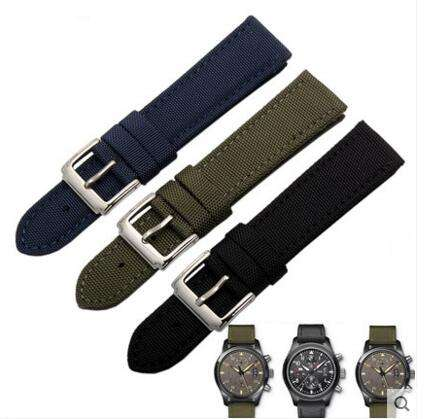 Waterproof Fabric Style Watch Band Strap Green Canvas Watch Strap