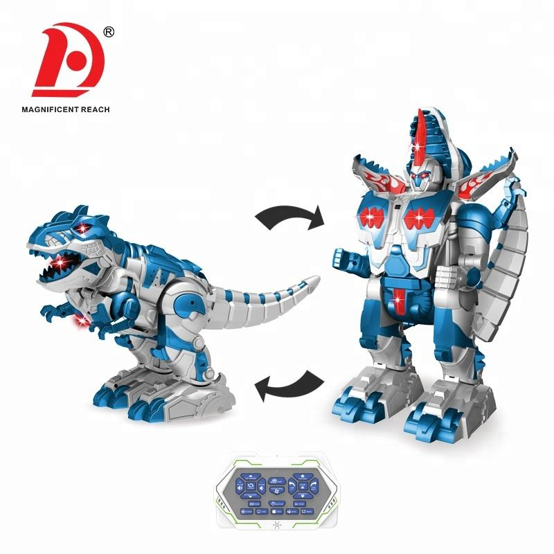 HUADA New Design En71 Remote Control Transformable RC Dinosaur Robot Toys with Sounds & Light