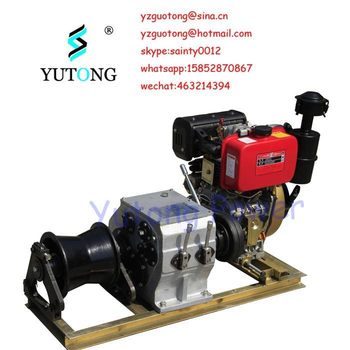 3 Ton Cable Towing Winch Machine With Diesel Engine