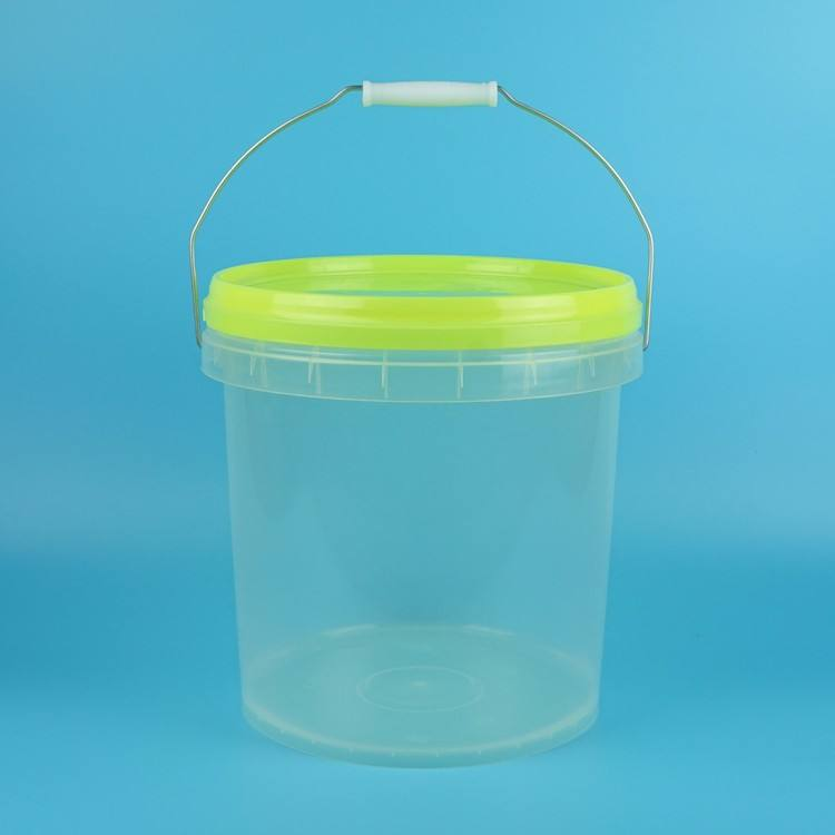 10l Bucket Transparent, Clear Plastic Pail for Toy, Light Barrel with Handle