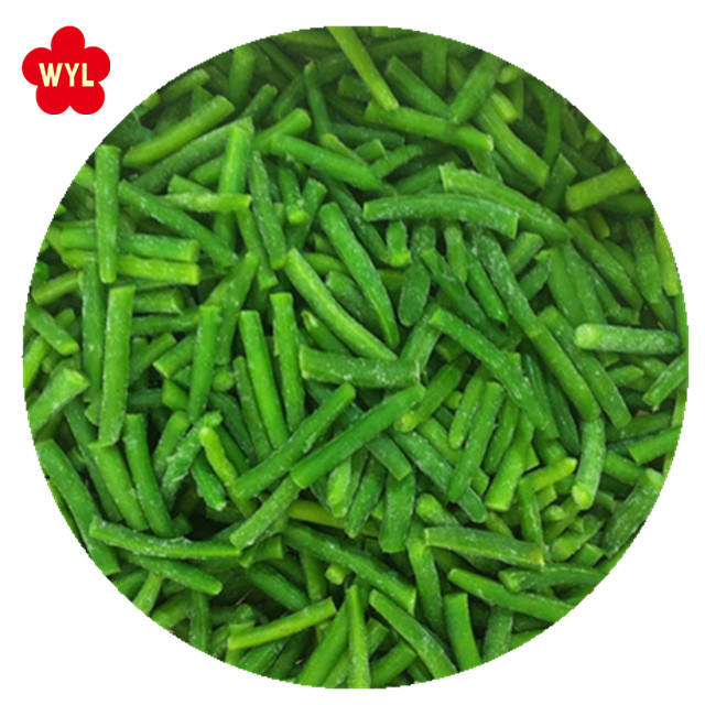 Factory price frozen vegetables for iqf green bean cut
