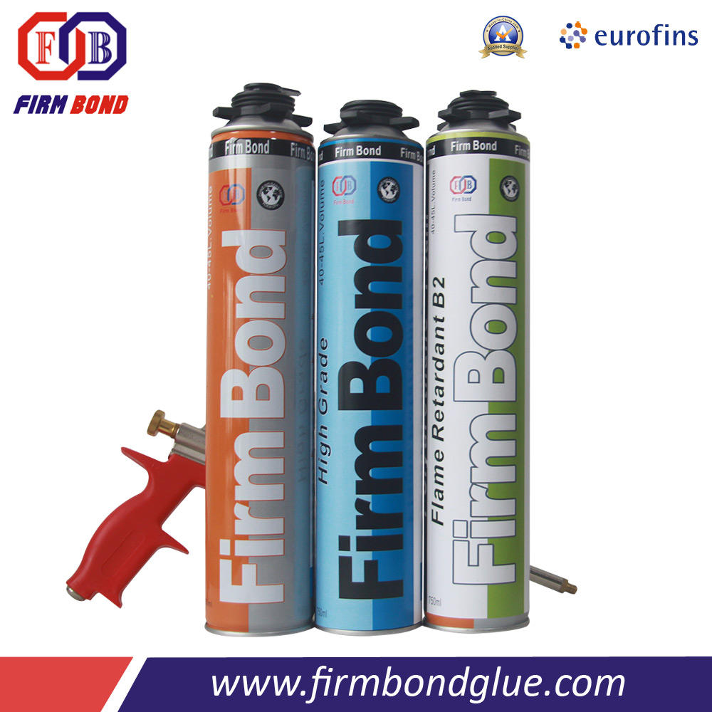 Efficient eco friendly pu fixing foam for insulate seal bond and fix