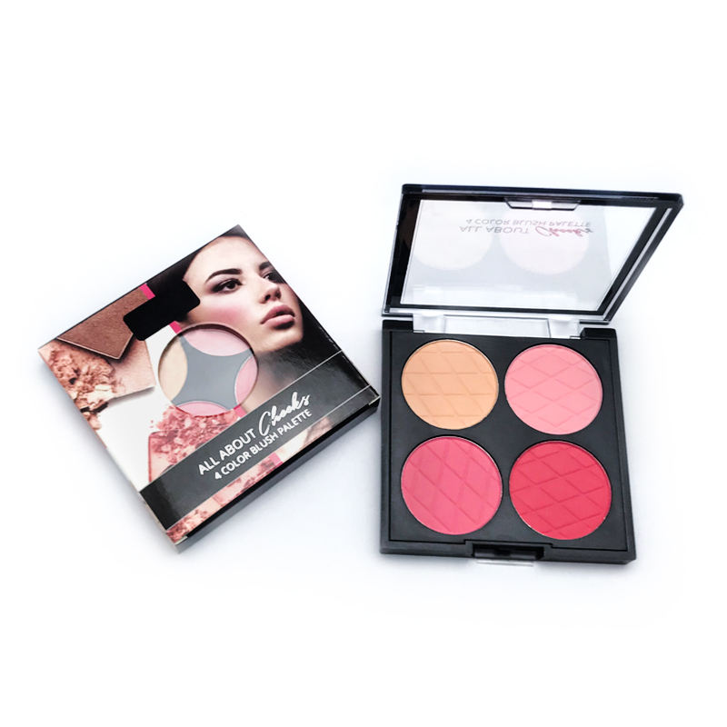 Professional Wholesale Beautiful Customized Matte Waterproof Private Label Blusher Palette