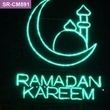 Custom commercial ramadan mall decoration with giant moon and star