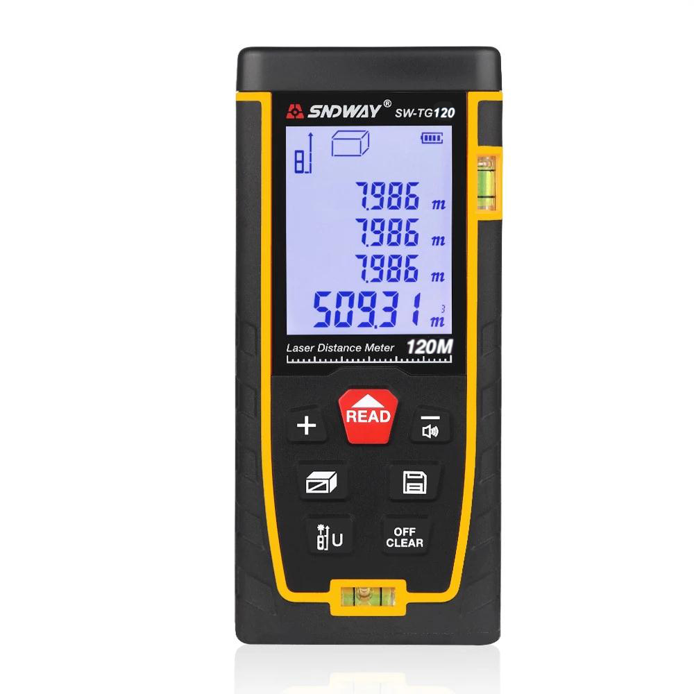 SNDWAY SW-TG120 Handheld Portable Multi-functional laser distance meter 120m Accurate measurement