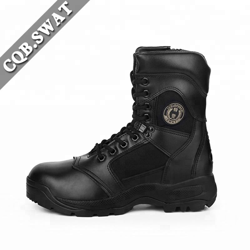 Ripple Pattern Outsole Men's Warrior Wear Round Toe Military Boots