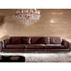 Factory price italian leather 321 living room modern extra long large leather sofa