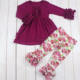 New floral boutique girl clothing 2020 fall latest dress designs infant & toddlers clothing