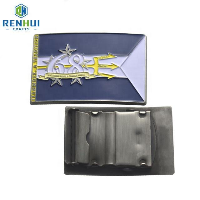 One-Stop Service [ Metal Belt Buckles ] Metal Buckle For Belt Custom Low Price 3D Design Personalized Logo Military Tactical Gold Plated Solid Brass Metal Belt Buckles For Man Sale