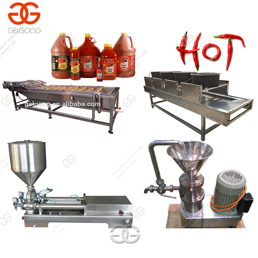 Commercial Chilli Paste Grinding Production Line Pepper Sauce Making Machine