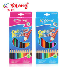 yl830041 high quality triangle natural wooden color pencils colors for student/school kids color pencil set 12/18/24 colors