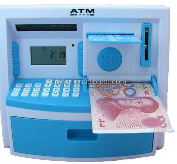 ATM money saving boxes toy for kids, High quality kids passpord piggy bank, custom creative design pvc money bank