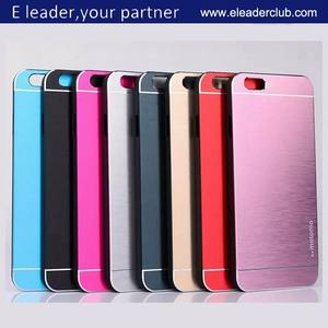 Luxe Motomo Deluxe Metal Brushed Cover Case Fit Voor Iphone 6 Branded Case 4.7