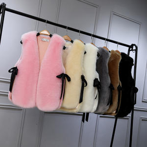 Plus Size Faux Fur Vest Women 대 한 Girl Lady Winter Women