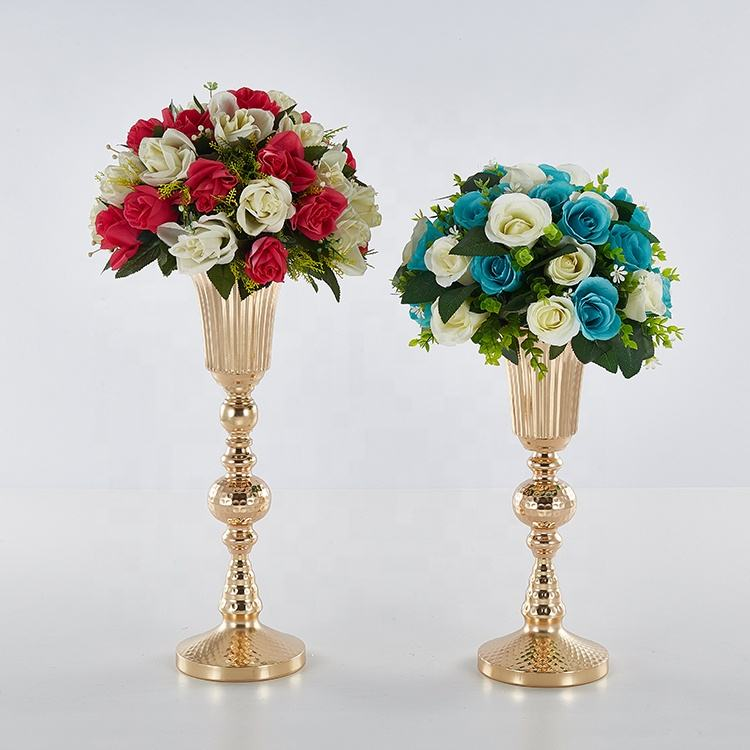 striation flower vase for wedding decoration