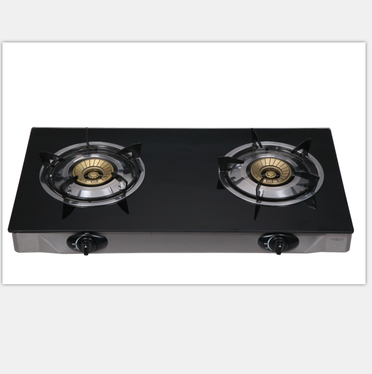 2019 Wholesale Indian Style 2 Burner Tempered Glass Gas Cookers Gas Stove