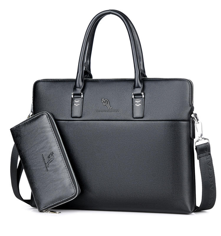 Men PU Leather Business Tote 어깨 메신저 레저 패션 싼 굿 Quality 방수 Purse Laptop Briefcase
