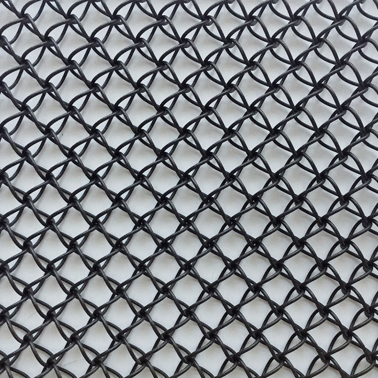 XY-F1510 Powder Vinly Coated Black Color Three-dimensional Net, architectural metal mesh