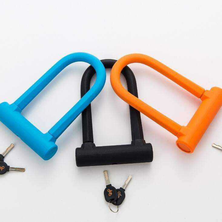 MTB road bike bicycle 3 color U Lock Anti-theft motorcycle chain locks SY-5-CL012