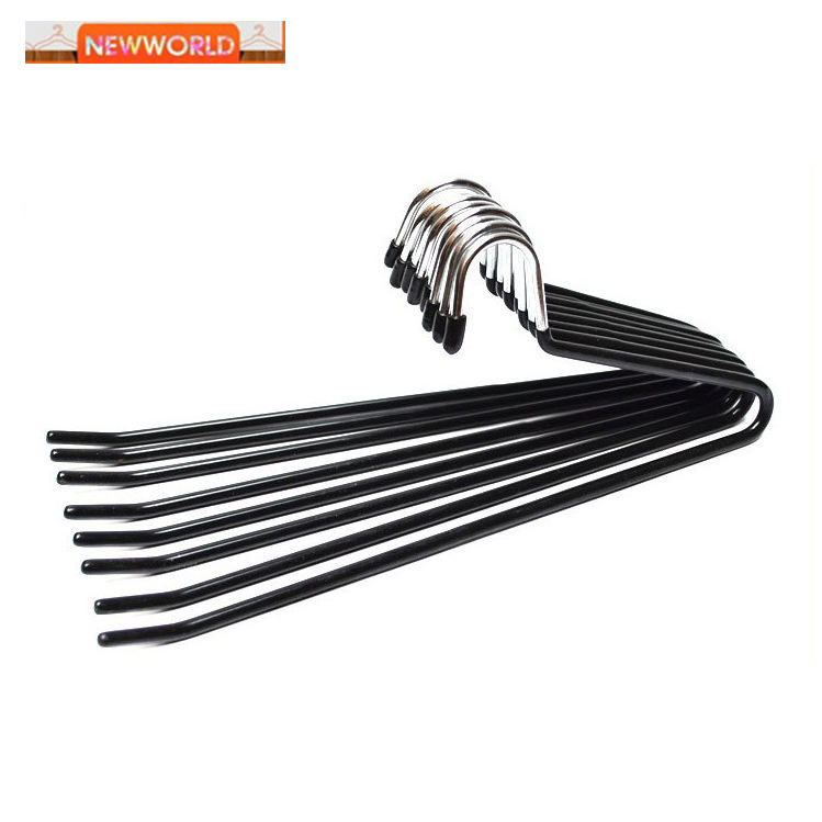 open ended pant hanger heavy duty PVC coated metal pants/towel/blanket/head cloth hanger for Malaysia packing with box
