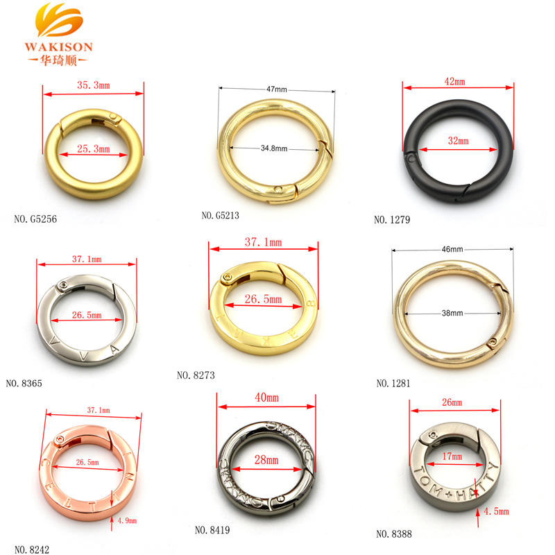 Clasp Zinc Alloy Plating Spring Ring Clasp For Hot Sale Bag Accessories